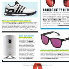 Pick up this month's issue of @mensjournal for the ultimate 'Gear of the Year' list ft. Piper @suunto @_.northface._ @adidasoriginals & more!