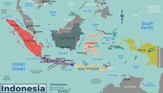Een blik op de kaart van Indonesië - Zuidoost-Azië Magazine