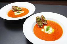 Tomaten-gorgonzola crème soep