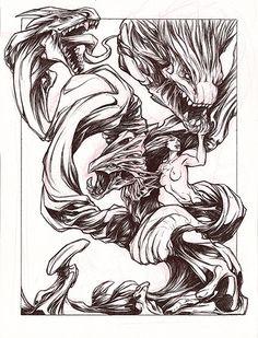 Femme arbre mode dragons