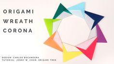 Origami Wreath V2 (Origami Star Wreath) - Paper Crafts - Paper Wreath Co...