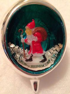 Antique Vtg Santa Diorama Poland Mercuryglass Teardrop Bottle Brush Silvergreen   eBay