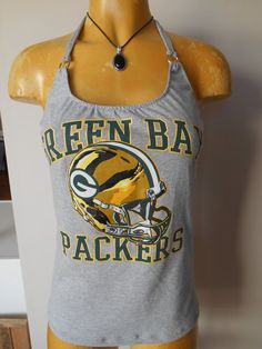 Hey, I found this really awesome Etsy listing at https://www.etsy.com/listing/166015952/green-bay-packers-halter-top-diy-nfl