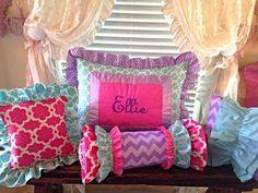 Custom Bedding  Monogrammed Pillow Shams by LikeMyMotherDoes, $40.00