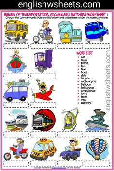 Means of Transportation Esl Printable Vocabulary Matching Exercise Worksheets For Kids #means #transportation #transportationmeans #transportsesl #transports #esltransportation #meansoftransportation #transportationvocabulary #eslforkids #esl #printable #vocab #vocabulary #languagearts #matching #matchup #exercise #worksheet #kids #forkids #englishwsheets #englishtime #eal #englishteacher #esltime #eslteacher #englishclass #eslclass #eslclassroom #eslexercise