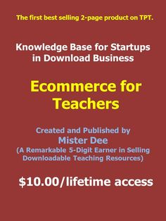 This is a product that all teachers should really know about. Download this resource from TeachersPayTeachers. Thank you for likes and repins. https://www.teacherspayteachers.com/Product/Knowledge-Base-for-Startups-in-Download-Business-TPT-2296239