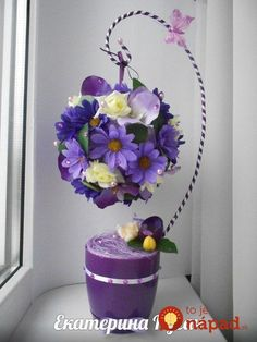 Do this to display large. Flower Crafts, Diy Flowers, Flower Decorations, Paper Flowers, Flower Ball, Flower Pots, Deco Floral, Floral Design, Clay Crafts
