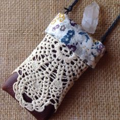 A personal favorite from my Etsy shop https://www.etsy.com/listing/228438956/crystal-pouch-leather-pouch-lace-bag