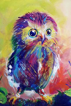 Cute colorful owl possible tattoo?