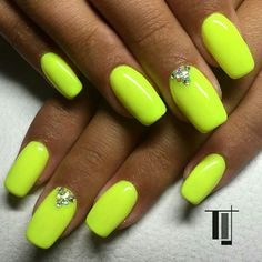 Neon yellow nails