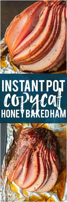 This INSTANT POT COPYCAT HONEY BAKED HAM will make your Christmas both easy and delicious! Made in minutes and just like the real thing. #ham #christmas #holiday #howiholiday #instantpot #easyrecipe via @beckygallhardin