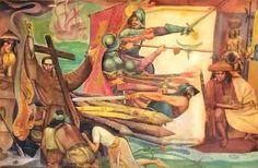 Carlos Botong Francisco - Mural on Philippine History (detail) Modern Art, Contemporary Art, Filipino Art, Philippine Art, Cultural Studies, Artwork Images, Artists Like, Philippines, Graffiti