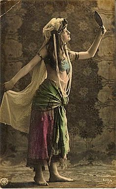 Belly dance is an ancient artform, and as we all know trends tend to repeat themselves. Let's have a look at these beautiful dancers of old and be inspired by their costumes and grace. :)