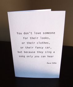 Love Valentine's day Card - Oscar Wilde quote - Textured paper on Etsy, $3.51 AUD