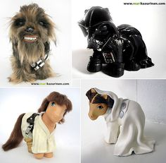 Star Wars My Little Pony.  I can't decide if this is funny or really disturbing.  I think I will go with both.