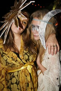 Mary-Kate Olsen Halloween with a friend!