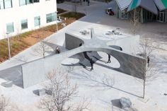 Architects and engineers detail their novel design for MIT's Collier Memorial. Installation Architecture, Pavilion Architecture, Garden Architecture, Architecture Design, Memorial Architecture, Garden Mall, Plaza Design, Pavilion Wedding, Street Furniture