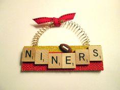 San Francisco 49ers Football Ornaments by ScrabbleTileOrnament
