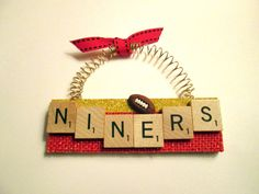 San Francisco 49ers Football Ornament