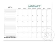 2015 Monthly Calendar  INSTANT DOWNLOAD by SweetPaperTrail on Etsy