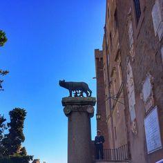 A loba Rômulo e Remo. Quem não conhece a lenda? :) . Lembre-se que nós fazemos o seu roteiro personalizado em Roma organizamos o seu transfer do/para o aeroporto e também sua hospedagem! info@emroma.com .  Veja mais no Snapchat Em_Roma  #Roma #europe #instatravel #eurotrip #italia #italy #rome #trip #travelling #snapchat #emroma#viagem #dicas #ferias #dicasdeviagem #brasileirospelomundo #viajandopelomundo #lenda #romuloeremo #campidoglio