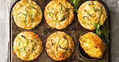 Turn a classic family favourite - zucchini slice - into these mid-morning muffins.
