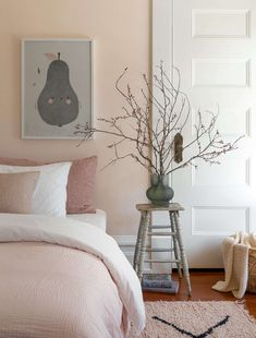 Historic House Refresh: How to Brighten Rooms with Dark Paneling Bedroom Wall, Bedroom Decor, Bedroom Ceiling, Master Bedroom, Four Square Homes, Brighten Room, Pink Bedroom Design, Bedroom Designs, Townhouse Designs