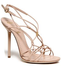Jennifer Aniston Shoes Bally Spring 2012 Nude Strappy Sandals