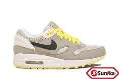 sale retailer 6a6e0 45f8e Nike Wmns Air Max 1 Medium Grey Sonic Yellow (319986-019)