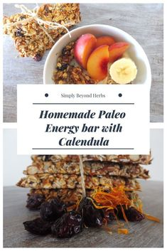 These Paleo Protein energy bars with Calendula are a great source of protein fiber and healthy fats so they will keep you happy and satisfied whether you have them for breakfast or as a snack. Paleo Energy Bars, Low Carb Protein Bars, Protein Energy, Healthy Protein, Healthy Snack Options, Healthy Fats, Healthy Snacks, Healthy Eating, Herb Recipes