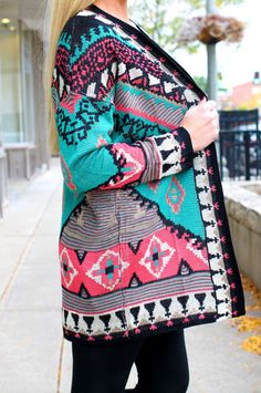 Ikat Tribal Cardigan | uoionline.com: Women's Clothing Boutique