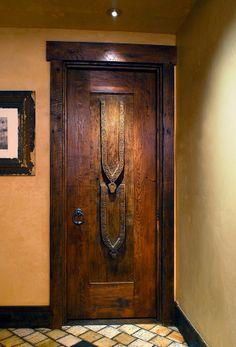 Stylized Goat Head Door by La Puerta Originals.  Photo: Bob Brazell   ..rh
