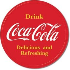 Coke Button Logo Tin Sign