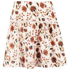 Boohoo Gigi Floral Ladder Trim Woven Skater Skirt | Boohoo ($7) ❤ liked on Polyvore featuring skirts, skater skirt, flared skirt, pink circle skirt, circle skirt and pink skater skirt