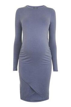 MATERNITY Curved Hem Bodycon Dress