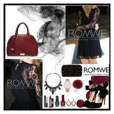 """""""Romwe 6"""" by amra-f ❤ liked on Polyvore featuring Topshop, Carvela Kurt Geiger, Chanel, OPI, Forever 21 and Larsson & Jennings"""