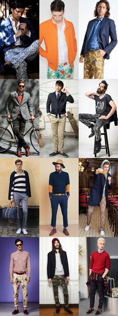 Men's 2014 Spring/Summer Fashion Trend: Printed Legwear, Modern Lookbook Inspiration