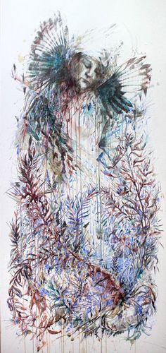 Artwork created using ink, tea and alcohol on bockingford watercolour paper by Carne Griffiths Painter Artist, Art Friend, 2d Art, Artist At Work, Carne, Street Art, Abstract Art, Art Gallery, Illustration Art