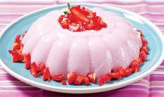 Γιαουρτοζελέ φράουλα με λίγες θερμίδες ~ ΜΕΔΟΥΣΑΣ