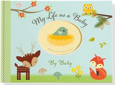 Another great find on Woodland Friends Baby Record Keeper Photo Album Album Baby, Baby Records, Very Cute Baby, Friend Book, Baby Memories, Babies First Year, Little Critter, Woodland Baby, Baby Owls