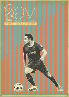 Xavi - FC Barcelona - Soccer - Poster