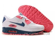best service 53685 b39e4 Nike Air Max 90 Womens White Rose Blue Top Deals TDz7A, Price   74.00 -  Jordan Shoes - Michael Jordan Shoes - Air Jordans - Jordans Shoes