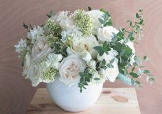 High and Pure, roses and garden roses, ornithogalum and lilac.