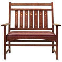 Stickley Harvey Ellis Settee With Inlay Mission Style Furniture Gustav Craftsman