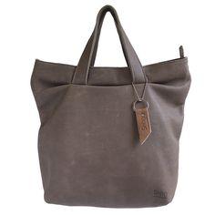 Aïko Grey leather bag