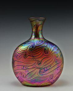 #29. Bohemian Art Glass Czech Iridescent Vase  For sale:  http://stores.ebay.com/victoire1930?_trksid=p2047675.l2563