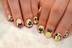 43 Rustic Cartoon Nail Art Ideas For All Season - Red Unicorn Cat Nail Designs, Nail Art Designs Videos, Cute Nail Art Designs, Cat Nail Art, Animal Nail Art, Cat Nails, Marvel Nails, Nail Art For Kids, Nails Now