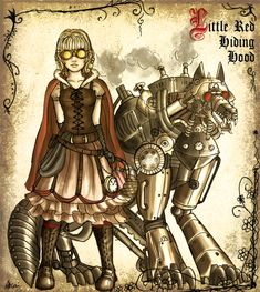 Steampunk Fairytale  Little Red Riding Hood