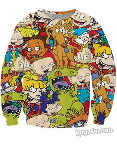 Rugrats Crewneck Sweatshirt - Rage On! - The World's Largest All-Over Print Online Retailer