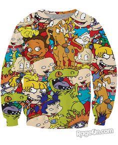 Rugrats Crewneck Sweatshirt - Rage On! - The World's Largest All-Over Print Online Retailer